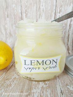 Homemade Lemon Sugar Scrub #DIY