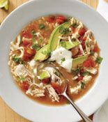 mexican chicken and rice soup...yum!
