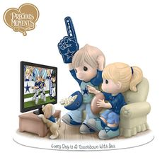 "Precious Moments Dallas Cowboys figurine  ""Every Day Is A Touchdown With You"""