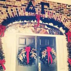 It's beginning to look a lot like Christmas at the LSU DG House! Love calling this place home :)