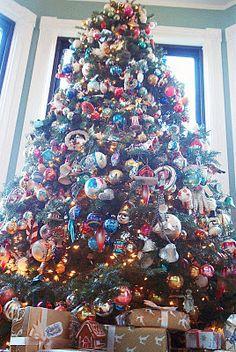 Vintage by Crystal: Oh Christmas Tree! vintag christma, mom tree, ornament, christma tree, christma time, christma season, crystal, christma jolli, christmas trees