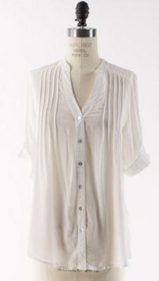 button upwhit, blouses, style inspir, dream closet, white