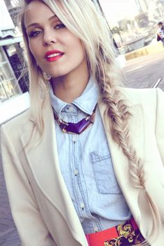 red lips and a fish tail