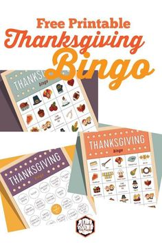 Free Printable Thanksgiving Bingo Game  | Mandy's Party Printables