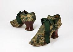 1690-1710 Brocade Shoes. Bata Shoe Museum.