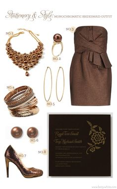 Stationery & Style: Monochromatic Bridesmaid Outfit