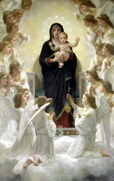 the virgin with angels by adolphe william bouguereau