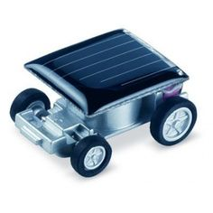 World's Smallest Solar Powered Car - Future ecologists and engineers alike will have great fun discovering motion and sustainable energy power.