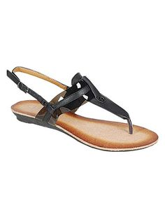 Take a look at the Black Ciber Sandal on #zulily today!