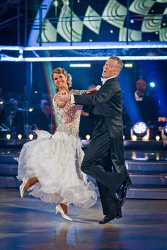 Rory Bremner and Erin Boag dance the quickstep.