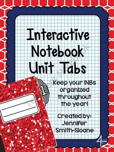 Unit Tabs for Interactive Notebooks (All Subjects) from 4mulaFun on TeachersNotebook.com (6 pages)  - Unit Tabs for Interactive Notebooks (All Subjects)