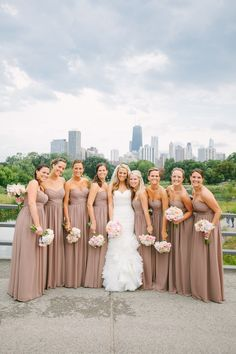 Stunning bridesmaids that also match the style of the bride slightly. Event Design: Michelle Durpetti Events ---> http://durpettievents.com/