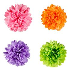 5 Mini Tissue Paper Pom Poms (Set of 8) - Available in 40 Colors! [DMC7300M Series] $7.35 from Koyal Wholesale