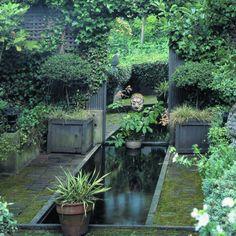 Mirror creates illusion of endless garden