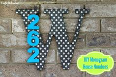 Add some punch to your porch! Wooden Monogram DIY House Numbers- full tutorial.