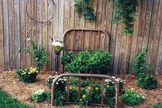 Cute idea and a great garden bed!!