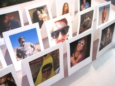 Faux Polaroid placecards.