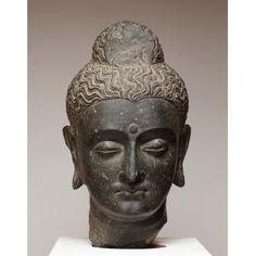 Head of Buddha, Gandharan period, 3rd century, Schist, India, Dallas Museum of Art