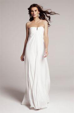 Nicole Miller Strapless Silk Chiffon Gown | #Nordstrom