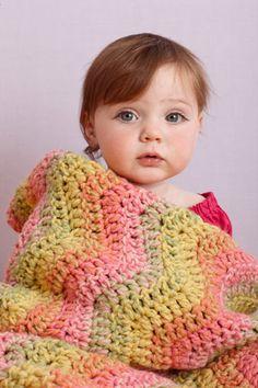 Multicolor Ripple Baby Throw
