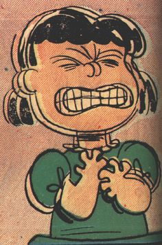 lucy rage, Charles Schultz I need as a mask that I can hold in front of my face when I'm feeling like this in the classroom.