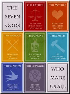 The Seven Gods ~ Game of Thrones