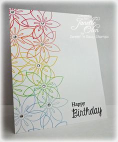Could easily be done with Stampin Up flowers