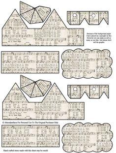 Templates - paper houses on Pinterest | Putz Houses, Glitter Houses ...