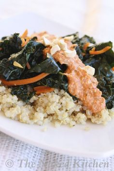 Sauteed Kale with Thai Chili Cashew Sauce   The Naked Kitchen