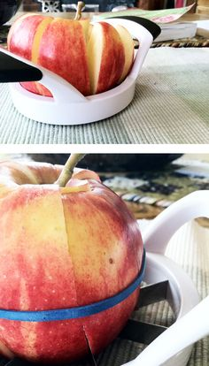 Use a rubber band to keep a sliced apple from browning. | 27 Ways To Pack A BetterLunch
