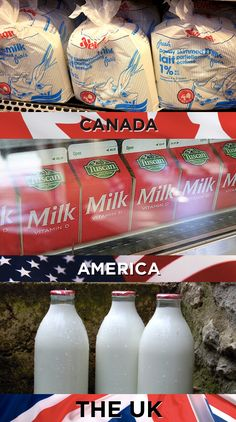 How we transport our milk: | 19 Things America, Canada, And The U.K. Cannot Agree On...THIS ACTUALLY MADE ME LAUGH! ESPECIALLY AS IVE LIVED IN BOTH THE US AND UK.