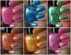 Zoya Bubbly nail polish collection