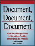 Document, Document, Document: What Every Manager Needs to Know About Tracking Performance and Problems  #DOEBibliography