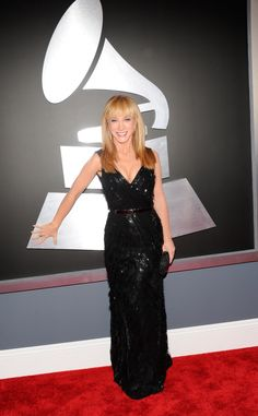 Kathy Griffin arrives at the 55th Annual GRAMMY Awards