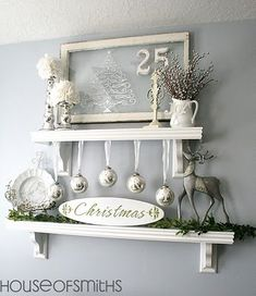 Great idea for not having a fireplace mantel.