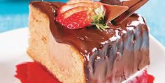 Torta de Chocolate e Morango