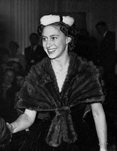 Britain's Princess Margaret at the collection of Christian Dior fashions displayed in Blenheim Palace, 05 Nov 1954