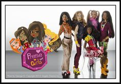 Winter 2013-14 Prettie Girls Group Photo Dolls to be sold at Angelic Dreamz, photo courtesy of the same.