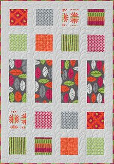 Modern Quilt Relish - great use for large patterned fabrics.