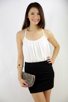 Bailey Bandage Skirt in Midnight