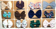 Bows made out of scrap fabric