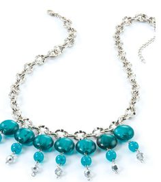 #DIY Teal Statement Necklace from Jo-Ann Fabric and Craft Stores