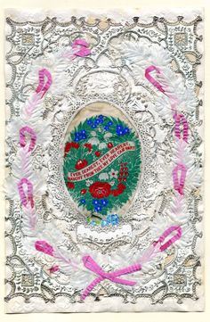 Woven silk. (C) Bodleian Library: John Johnson Collection: Valentines 8