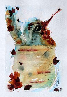 Nesting Hummingbird Watercolor Art Print