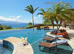 Stunning Home in one of the most premier locations in the world! #pool #backyard #ocean #hawaii #patio #home #design