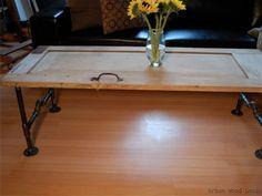 vintage door table