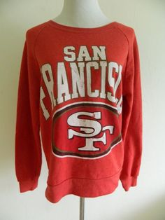 Womens NFL San Francisco 49ers Pullover Throwback Sweatshirt M Medium #NFL #SanFrancisco49ers