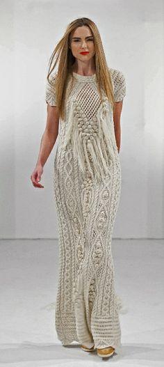 Fantasy Aran Dress by Natallia Kulikouskaya, Ireland 2013
