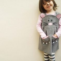 Baby Mouse Character Play Dress by Wild Things Funky Little Dresses