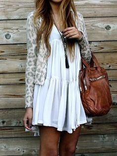 I love this white dress